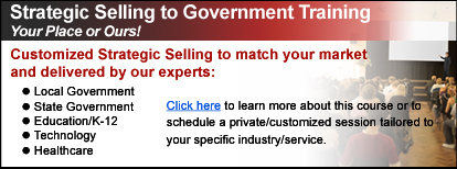 Strategic Selling to Government